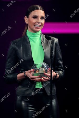 Teresa Enke, widow of German national soccer goalkeeper Robert Enke and chairwoman of the Board of the Robert Enke Foundation, accepts the 1LIVE Special Prize during the 20th 1LIVE Krone radio awards ceremony at the Jahrhunderthalle in Bochum, Germany, 05 December 2019. The radio award 1LIVE Krone is given to the best national artists of the music industry.