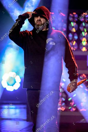 German rapper, actor and music producer Sido performs during the 20th 1LIVE Krone radio awards ceremony at the Jahrhunderthalle in Bochum, Germany, 05 December 2019. The radio award 1LIVE Krone is given to the best national artists of the music industry.