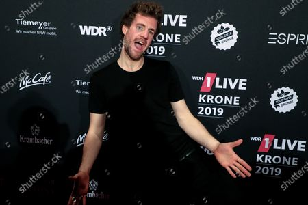 Italian-Canadian comedian Luke Mockridge poses after the 20th 1LIVE Krone radio awards ceremony at the Jahrhunderthalle in Bochum, Germany, 05 December 2019. The radio award 1LIVE Krone is given to the best national artists of the music industry.