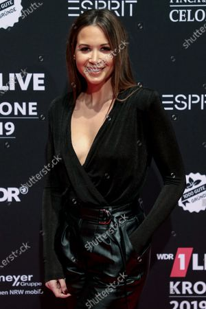 Stock Image of German singer-songwriter Mandy Grace Capristo poses at the 20th 1LIVE Krone radio awards ceremony at the Jahrhunderthalle in Bochum, Germany, 05 December 2019. The radio award 1LIVE Krone is given to the best national artists of the music industry.