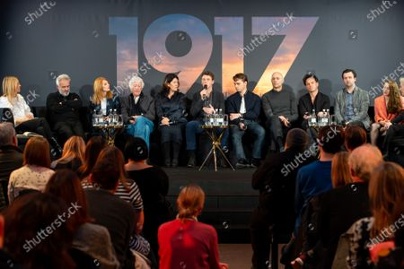 Edith Bowman, Sam Mendes, Krysty Wilson-Cairns, Roger Deakins, Pippa Harris, George MacKay, Dean-Charles Chapman, Mark Strong, Andrew Scott, Daniel Mays and Claire Duburcq