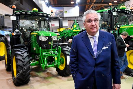 Stock Image of Prince Laurent visits the Agribex agricultural expo