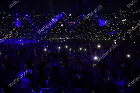 A general view over the audience during the Avicii Tribute Concert For Mental Health Awareness at the Friends Arena in Stockholm, Sweden, 05 December 2019. Swedish musician, DJ, remixer and record producer Avicii (Tim Bergling) died at the age of 28 in Muscat, Oman on 20 April 2018.