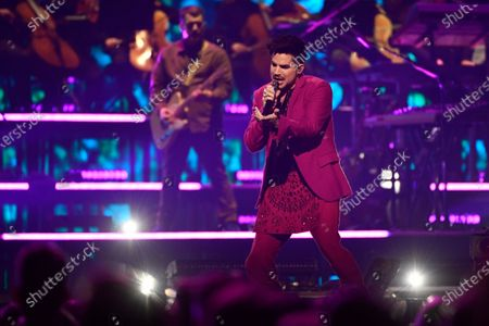 Adam Lambert performs on stage during the Avicii Tribute Concert For Mental Health Awareness at the Friends Arena in Stockholm, Sweden, 05 December 2019. Swedish musician, DJ, remixer and record producer Avicii (Tim Bergling) died at the age of 28 in Muscat, Oman on 20 April 2018.