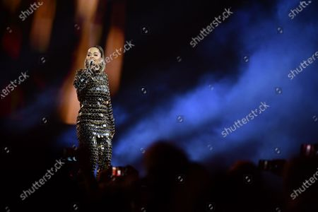 Rita Ora performs on stage during the Avicii Tribute Concert For Mental Health Awareness at the Friends Arena in Stockholm, Sweden, 05 December 2019. Swedish musician, DJ, remixer and record producer Avicii (Tim Bergling) died at the age of 28 in Muscat, Oman on 20 April 2018.