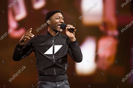 Aloe Blacc performs on stage during the Avicii Tribute Concert For Mental Health Awareness at the Friends Arena in Stockholm, Sweden, 05 December 2019. Swedish musician, DJ, remixer and record producer Avicii (Tim Bergling) died at the age of 28 in Muscat, Oman on 20 April 2018.