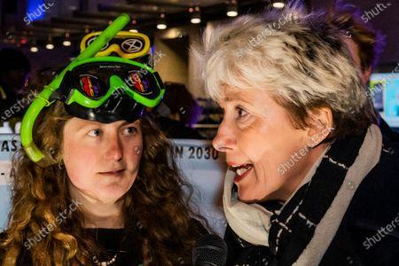 Editorial photo of Emma Thompson's Extinction Rebellion broadcast, London, UK - 05 Dec 2019