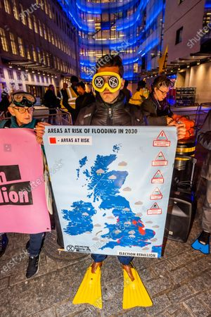 Editorial image of Emma Thompson's Extinction Rebellion broadcast, London, UK - 05 Dec 2019