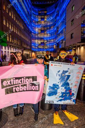 Editorial picture of Emma Thompson's Extinction Rebellion broadcast, London, UK - 05 Dec 2019