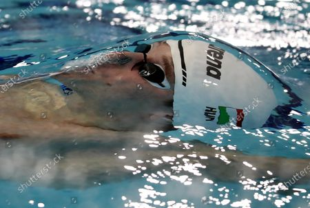Richard Bohus of Hungary competes in the semifinal of men's 100m backstroke at the LEN European Short Course Swimming Championships 2019 in Glasgow, Scotland, Great Britain, 05 December 2019.