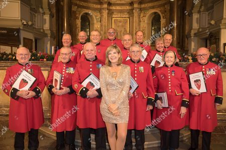 Stock Picture of The Chelsea Pensioners and Penny Smith