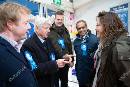 Stanley Johnson joins Paul Bristow, meeting Victoria Atkins candidate for Louth and Horncastle and Minister for Women.