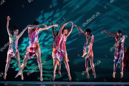 """Stock Image of Performers with Alvin Ailey American Dance Theater rehearse """"Divining"""" by choreographer Judith Jamison, in New York. The piece is performed from Dec. 5 to Jan. 4 at New York City Center"""
