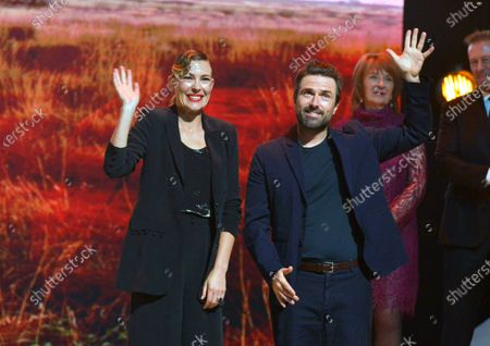 Mirrah Foulkes (L) and David Michod (R) attend the tribute to Australian cinema during the 18th annual Marrakech International Film Festival, in Marrakech, Morocco, 05 December 2019. The film festival runs from 29 November to 07 December 2019.