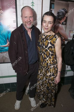 Joss Whedon and Olivia Williams