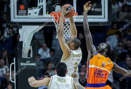 Anthony Randolph, player of Real Madrid from Germany and Maurice Ndour, player of Valencia from Senegal