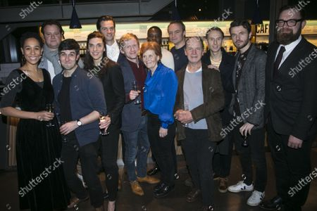 Rebecca Scroggs (Nikolai), Gary Shelford (Saemi Rokk), Beruce Khan (Livo), Emma Pallant (Regina), Philip Desmeules (Lothar), Gunnar Cauthery (Gudmundur), Buffy Davis (Fred/Lina), Solomon Israel (William Lombardy/Henry Kissinger), Gyuri Sarossy (Efim), Simon Chandler (Max Euwe), Robert Emms (Bobby Fischer), Ronan Raftery (Boris Spassky) and Tom Morton-Smith (Author)
