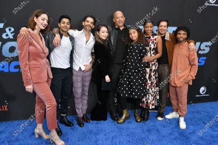 Camille Ramsey, Manish Dayal, Tyler Posey, Charlet Chung, Vin Diesel, Similce Diesel, Renee Elise Goldsberry, Jorge Diaz and Luke Youngblood