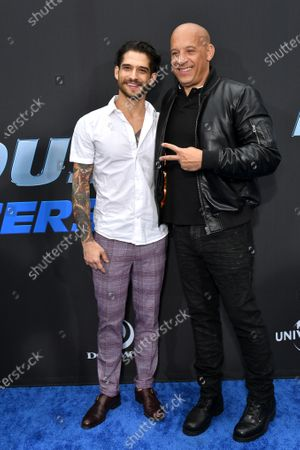 Stock Photo of Tyler Posey and Vin Diesel
