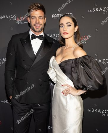 William Levy and Alicia Sanz pose at the Pantelion's En Brazos De Un Asesino Miami Premiere