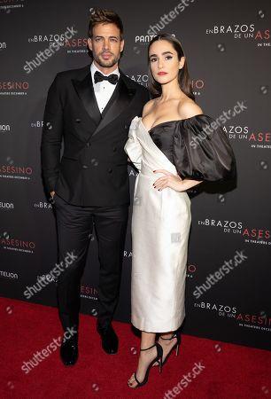 Stock Picture of William Levy and Alicia Sanz pose at the Pantelion's En Brazos De Un Asesino Miami Premiere