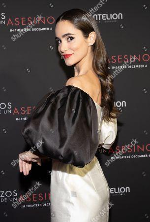 Alicia Sanz Posing at the Pantelion's En Brazos De Un Asesino Miami Premiere