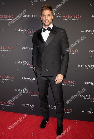 William Levy posing at the Pantelion's En Brazos De Un Asesino Miami Premiere