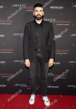Jomari Goyso posing at the Pantelion's En Brazos De Un Asesino Miami Premiere