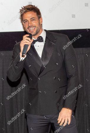 William Levy speaking at the Pantelion's En Brazos De Un Asesino Miami Premiere