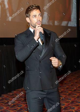 Stock Photo of William Levy speaking at the Pantelion's En Brazos De Un Asesino Miami Premiere