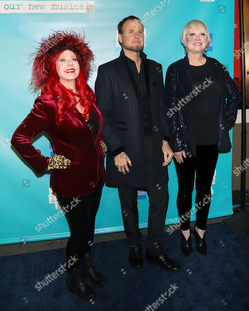 "Kate Pierson, Keith Strickland, Cindy Wilson. Kate Pierson, Keith Strickland and Cindy Wilson attend the ""Jagged Little Pill"" Broadway opening night at the Broadhurst Theatre, in New York"