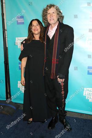 "Alanis Morissette, Glen Ballard. Alanis Morissette and Glen Ballard attend the ""Jagged Little Pill"" Broadway opening night at the Broadhurst Theatre, in New York"