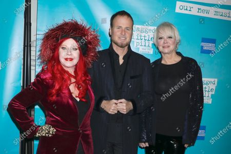 Kate Pierson, Keith Strickland and Cindy Wilson, of The B-52's