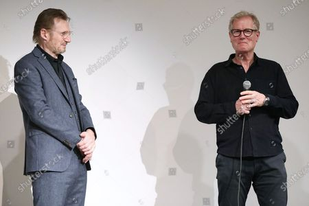 Stock Image of Liam Neeson and Hans Petter Moland (Director)