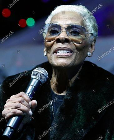 Singer Dionne Warwick performs during the annual lighting ceremony of the New York Stock Exchange Christmas tree in New York, USA, 05 December 2019.