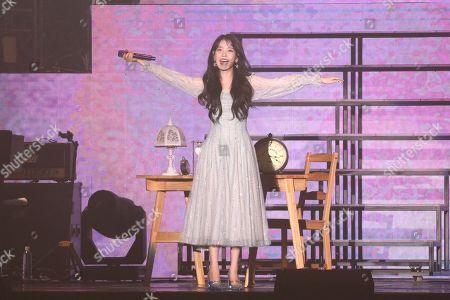 Editorial image of Lee Ji-eun in concert at Linkou Stadium, Taipei, Taiwan, China - 30 Nov 2019