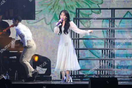 Editorial photo of Lee Ji-eun in concert at Linkou Stadium, Taipei, Taiwan, China - 30 Nov 2019
