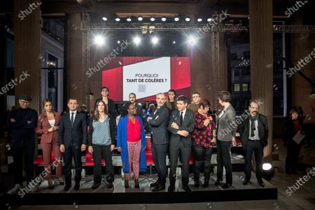 Lea Salame and Thomas Sotto, Gerald Darmanin, Sibeth Ndiaye, Philippe Martinez, Dominique Carlac'h and guests
