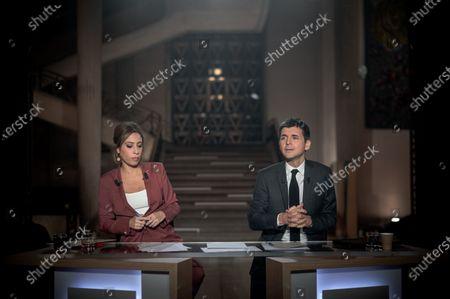 Lea Salame and Thomas Sotto