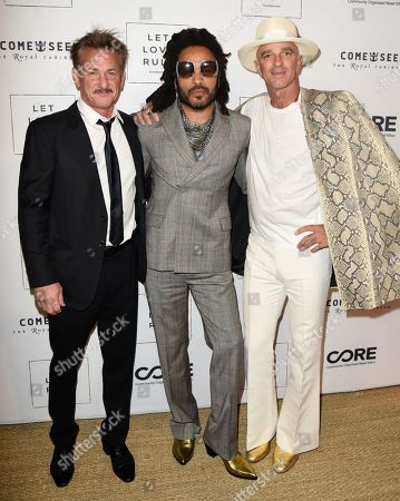 Stock Picture of Sean Penn, Lenny Kravitz and Alan Faena