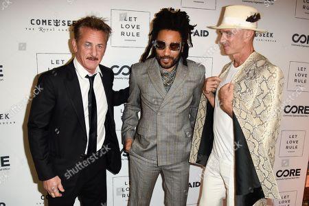 Sean Penn, Lenny Kravitz and Alan Faena
