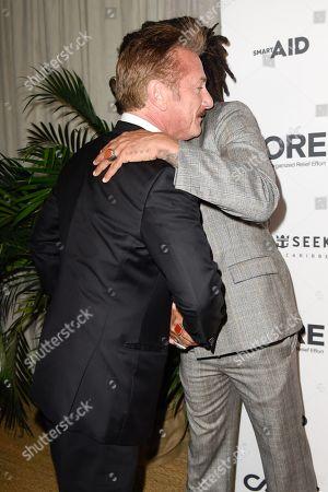 Sean Penn and Lenny Kravitz