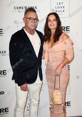 Stock Picture of Shareef Malnik, Gabrielle Anwar