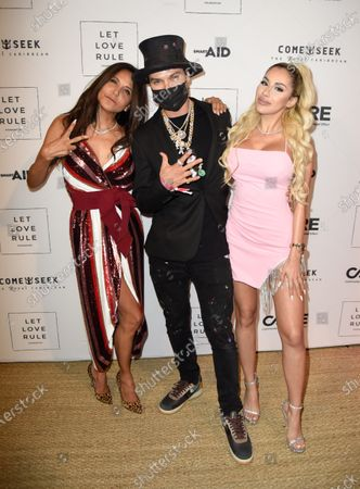 Co-Oener, Chrome Hearts - Laurie Lynn Stark, from left, Alec Monopoly and Alexa Dellanos