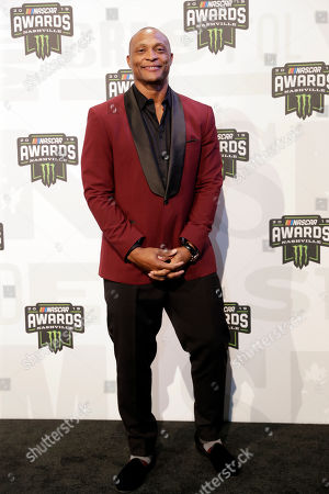 Stock Image of Former Tennessee Titans running back Eddie George arrives at the NASCAR Cup Series Awards, in Nashville, Tenn