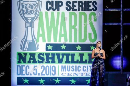 Stock Photo of Cassadee Pope performs at the NASCAR Cup Series Awards, in Nashville, Tenn