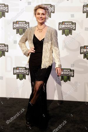 Clare Bowen arrives at the NASCAR Cup Series Awards, in Nashville, Tenn