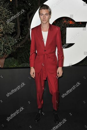 Stock Photo of Lucky Blue Smith arrives at GQ's Men of the Year Celebration, in West Hollywood, Calif