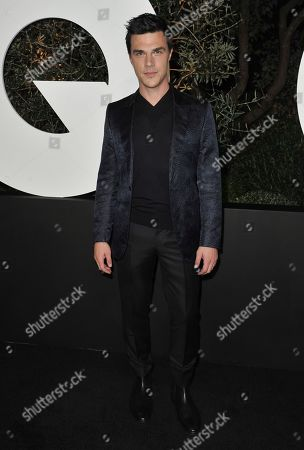 Finn Wittrock arrives at GQ's Men of the Year Celebration, in West Hollywood, Calif