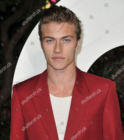 Stock Image of Lucky Blue Smith arrives at GQ's Men of the Year Celebration, in West Hollywood, Calif